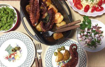 焼きダコポルヴォ・アサーダスの食卓